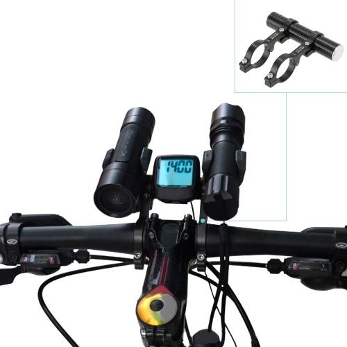 31.8mm Double Extension Handlebar Маунт алюминиевого сплава Extender держатель для велосипеда свет Спидометр велосипедов