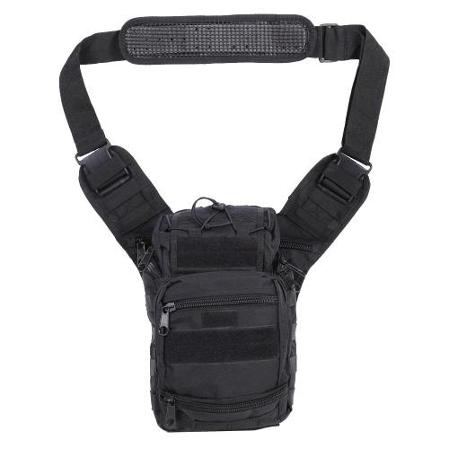 キャンプ&狩猟のための屋外の戦術的なMolleのショルダーバッグパックショルダーバッグスリングバッグ