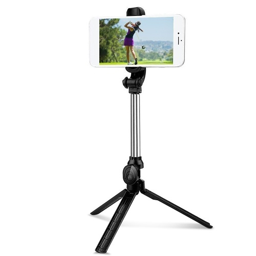 Golf Phone Holder with Wireless Remote Shutter Extendable Phone Stick Tripod Stand Golf Swing Recording Training Aids