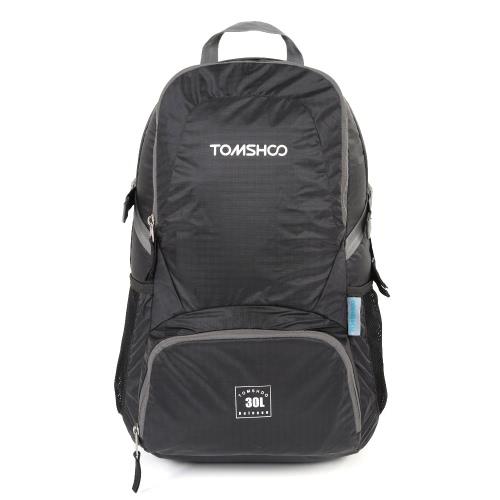 TOMSHOO 30L Ultra ligero Nylon impermeable morral al aire libre viajes senderismo plegable bolsa