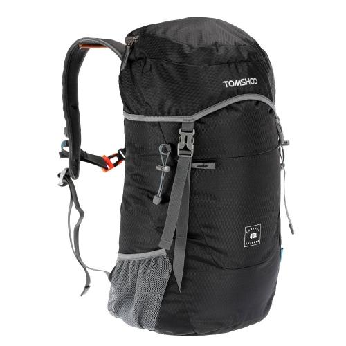 TOMSHOO 40L Ultra leggero Nylon impermeabile Zaino Outdoor Viaggi Trekking borsa pieghevole