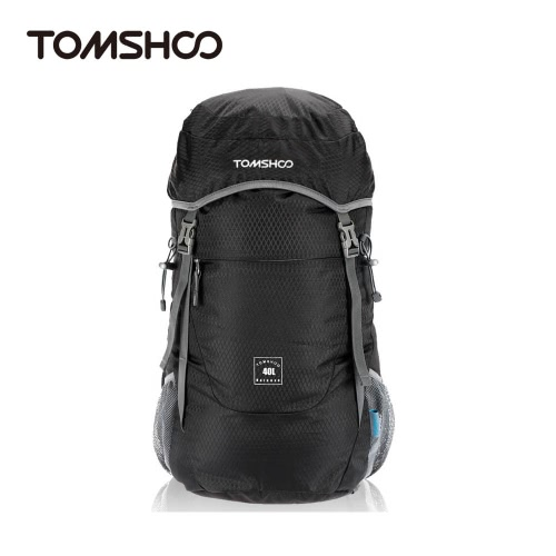 TOMSHOO 40L Ultra leichte wasserdicht Nylon Outdoor Rucksack Reisen Trekking faltbare Tasche