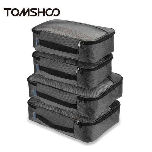 TOMSHOO 4шт упаковки кубиков одежда Организатор поездки комплект хранения сумки