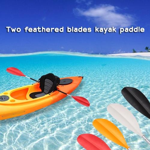 1pc 215cm Länge Polypropylen Kajak paddeln mit zwei konstruiert gefiederte Blätter und zwei Wellen Boot Paddel für Flüsse, Seen und Meer