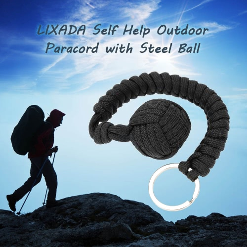Lixada Paracord for Emergency Key Ring Survival Kits Self Help Outdoor Camping Hiking Tool