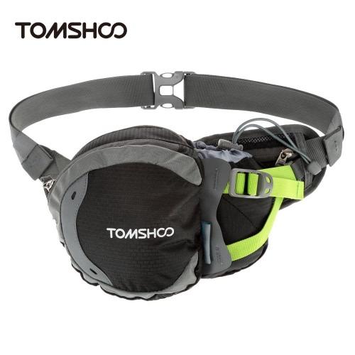 TOMSHOO vita all'aperto impermeabile borsa sport marsupio con bottiglia d'acqua (non incluso) supporto per escursionismo corsa ciclismo campeggio viaggio arrampicata