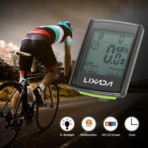 Lixada Multifunktionale 2-in-1 Wireless LCD Fahrrad Radfahren Computer Speed Cadence Wasserdicht