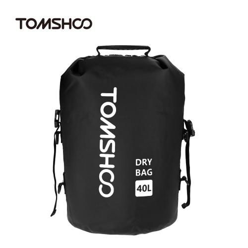 TOMSHOO 40L Outdoor Water-Resistant Bag Dry Sack Borsa di stoccaggio per Viaggiare Rafting Kayak Canoa Nautica Campeggio Snowboard