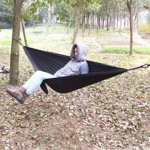 Lixada Tragbare Durable Compact-Nylongewebe-Reisen Camping Hammock für zwei Personen