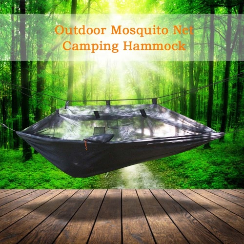 Lixada Mosquito Net Hammock Extra Strong Nylon Durable Compact Lightweight Outdoor Camping Traveling Hammock for One Person