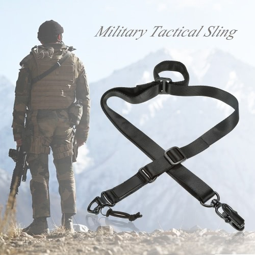 Docooler Military Tactical Safety Two Points Outdoor Belt Carbine Sling Adjustable Strap