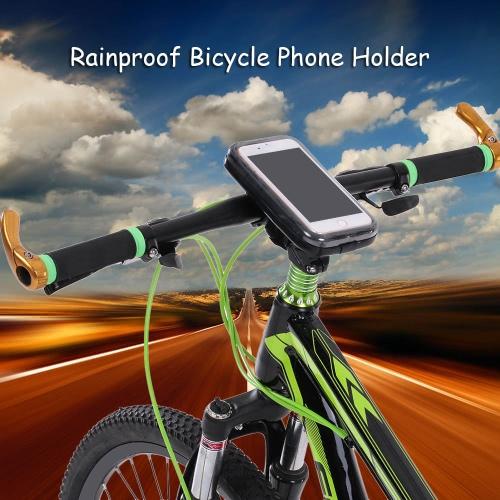 Lixada antipioggia motociclo della bici della bicicletta manubrio del supporto della cassa per 5,5