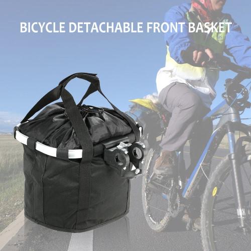 Fahrrad Abnehmbare Zyklus vorne Leinwand Korb Tragetasche Pet Carrier Aluminium Rahmen