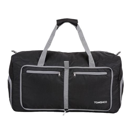 TOMSHOO 80L faltbare Stopfbarer Duffle Bag Große Reisegepäckeinkaufs Gym Aufbewahrungstasche Wasserdicht