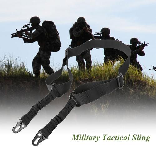 Docooler Militar de seguridad táctico dos puntos al aire libre de la correa de la honda correa ajustable
