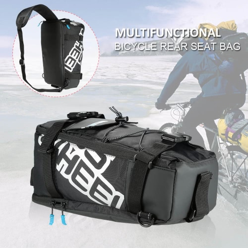 Multifunktionale Fahrrad-Fahrrad-Rücksitz-Trunk Bag Outdoor Sports Pouch Rack-Radtaschen Schultertasche