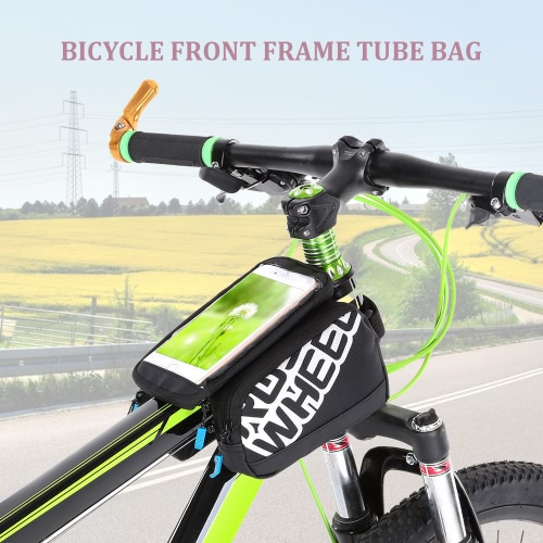 Bolsa marco Multifuncitonal Cyling delantera de la bici del tubo del Pannier de la bici embala Pannier con doble bolsa