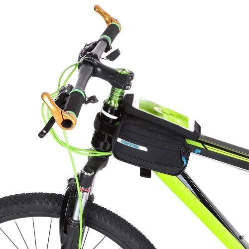 Multifuncitonal Cyling велосипед Передняя рамка труба сумка Паньер велосипеда пакет Паньер с двойным мешком