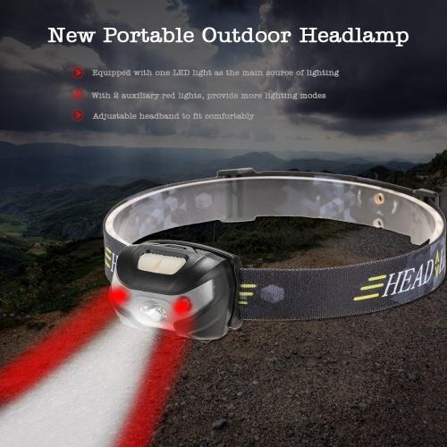 Beweglicher im Freien 3000LM Scheinwerfer-Scheinwerfer-Kopf-Lampen-Licht-Fackel für Camping Radfahren Wandern