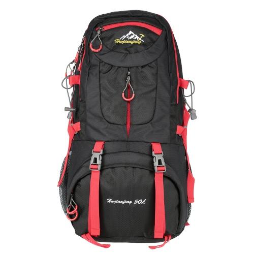 Мужчины Женщины 50L большой емкости Спорт на открытом воздухе Альпинизм Рюкзак Туризм треккинг Дорожная сумка ранец