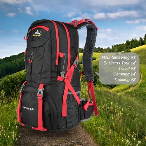 Hombres Mujeres 50L de gran capacidad de deportes al aire libre del morral del alpinismo Senderismo Trekking bolsa de viaje de la mochila