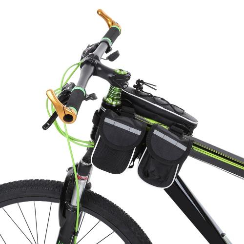 Bolsa Bastidor delantero ciclo de la bicicleta de la bici Docooler desmontable delantero del bolso de la bolsa del bolso del tubo paquete del Cruz-cuerpo