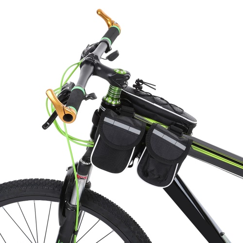 Docooler abnehmbares Fahrrad-Fahrrad-Zyklus Vorderrahmentasche Frontseiten-Schlauch-Beutel-Beutel-Pack Cross-Body-Bag