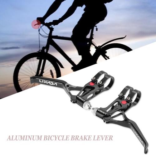 Lixada Велосипед CNC алюминиевый рычаг тормоза MTB маунтинбайку 3 Пальцы Механические тормозные рычаги 1 пара