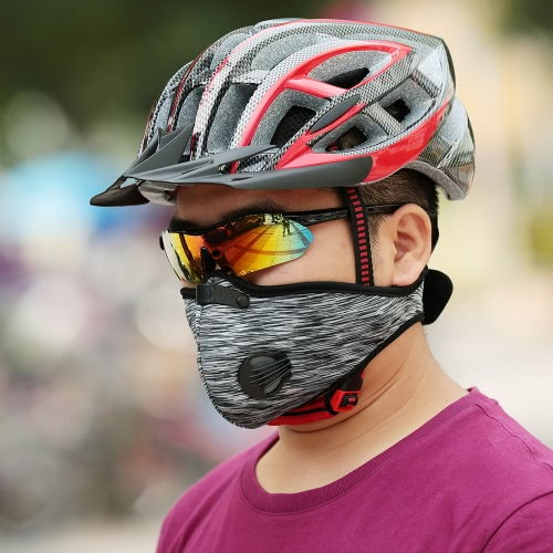 Unisex Anti Dust Motorcycle Bicycle Cycling Bike Ski Half Face Mask Filter
