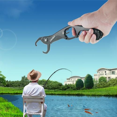 Lixada aleación de aluminio de los pescados de labios en forma de mano de agarre del agarrador de activación de servicio pesado 55 libras / 25 kg Titular de pesca con los ganchos fuertes y antideslizante de la manija