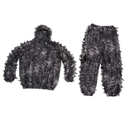 Lixada camuffamento foglia di caccia del rivestimento del vestito pantaloni Bionic Guerriero Ghillie Vestito per caccia Giochi