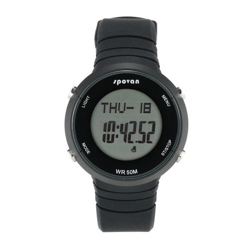 SPOVAN Outdoor Sports Orologio Digitale intelligente orologio da polso cardiofrequenzimetro Contapassi Fitness Tracker allarme agenda 5ATM resistente all'acqua