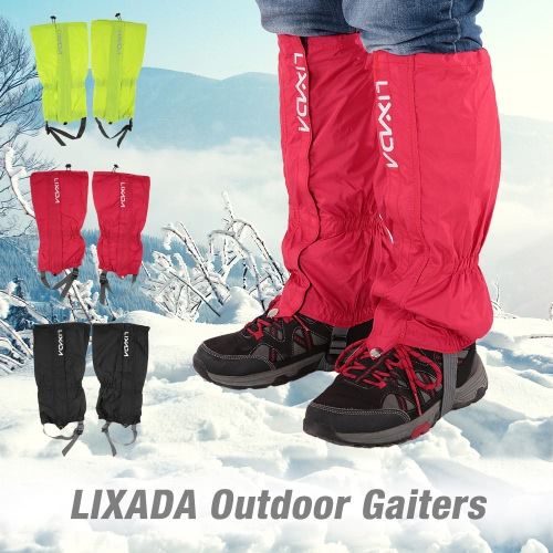 High Leg Gaiters,Lixada Waterproof Non-Slip Outdoor Leg Boots Cover Snow Legging Gaiters for Hiking Walking Climbing Hunting (1 Pair)