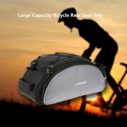 Sedile Lixada 13L multifunzionale posteriore della bicicletta sacchetto esterno di riciclaggio della bici della sede del sacchetto della cremagliera posteriore del tronco Pannier Backseat della borsa a tracolla