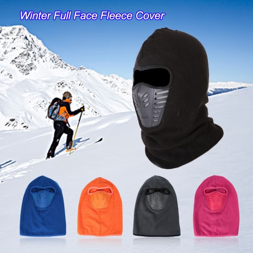 Lixada inverno caldo pile copertura Full Face Mask Anti-polvere antivento sci