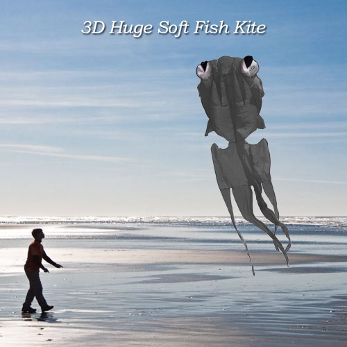 300 * 150cm Linea 3D pesci enormi Kite senza telaio morbido aquilone gigante Flyer Kite Lifter per bambini adulti