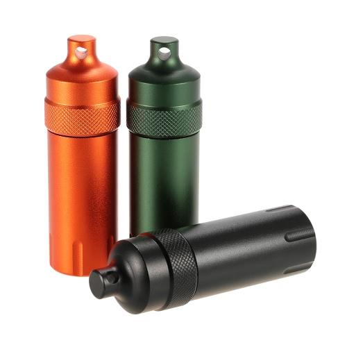 Водостойкой каждый день Карри Матчи Cap Выживание Медикаменты Таблетки Match Case Контейнер Bottle Carry механизм алюминиевого сплава