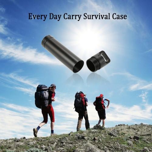 Medicamentos resistentes 60ml de agua Píldoras de ajuste de Supervivencia envase del caso Can Cap de aleación de aluminio todos los días llevar el equipo