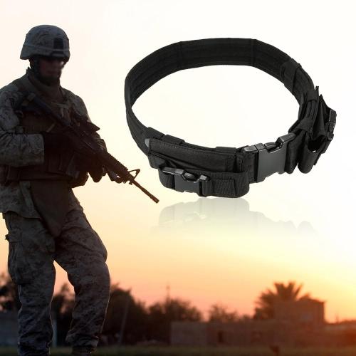 Тактический ремень с двумя горизонтальными Журнал Outdoor сумки для охоты военной тактическое снаряжение
