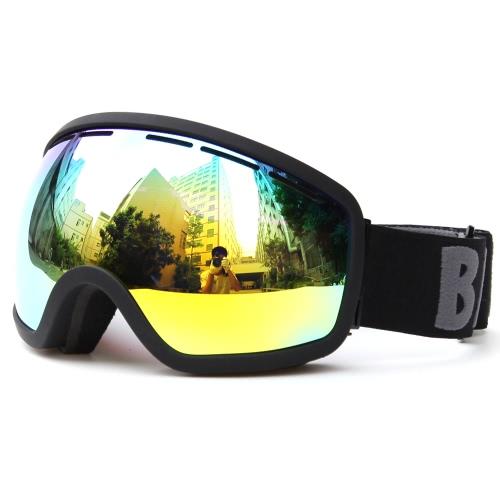 Strap Protezione Sci Snowboard pattinaggio occhiali di protezione UV Anti-fog largo sferica PC Lens antiscivolo del casco compatibile