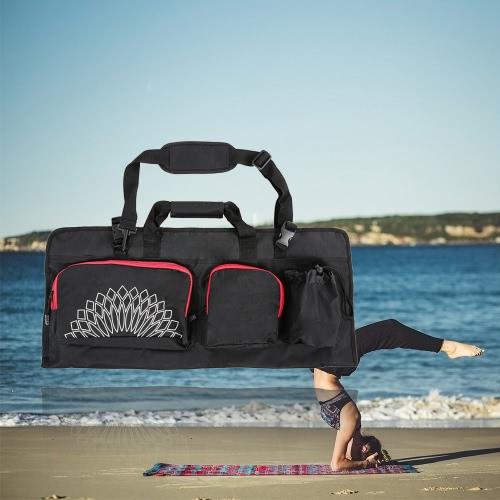 Yoga Mat Bolsa con extremos abiertos de bolsillo móvil y la botella de agua del sostenedor