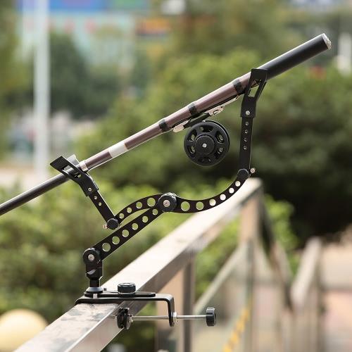 Docooler Lega di alluminio Triangolare di pesca Rod Supporto treppiede Base di sostegno supporto per il rod Rod Rod Set migliore post mano libera impedire la goccia