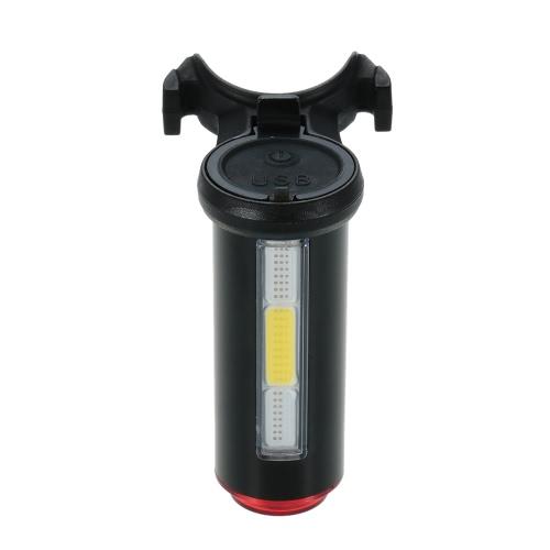 USB alluminio ricaricabile della luce della bicicletta fanale posteriore a LED di avviso di coda di sicurezza Bicicletta Ciclismo Luce posteriore della bici della luce della lampada