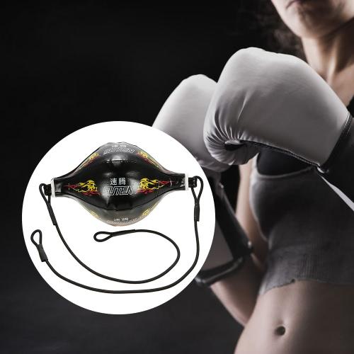 Doble Fin boxeo velocidad de la bola inflable Sporting Entrenamiento del foco del retroceso del bolso de perforación Bolsa de velocidad