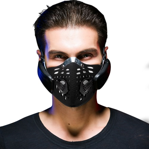 Docooler Anti-pollution Sports Mask Bone Conduction Headphone Wireless Rechargeable Smart BT4.0 Professional Haze Dust Resistant