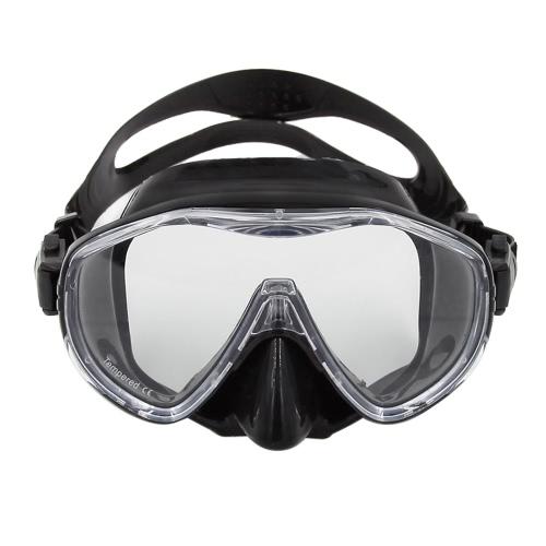 De alta calidad anti-vaho máscara de buceo snorkel Hombre Mujer Máscara de ventanilla única salto de la máscara gafas de natación Natación máscara facial de silicona flexible templado lente de cristal marco de la PC adultos