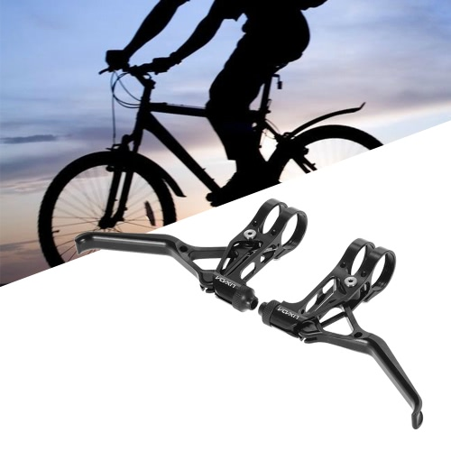 1 par de freno de disco de aluminio CNC frenos de palanca de bicicleta de montaña bicicleta de freno manejar manivela de 3 dedos