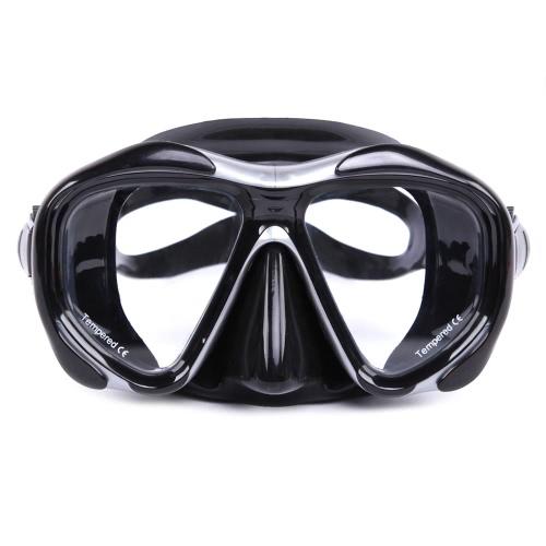 Anti-fog Diving Snorkeling delle donne degli uomini di Mask Due-finestra Scuba Diving Mask occhialini da nuoto nuoto Maschera vetro temperato Lens silicone flessibile Gonna telaio PC adulti
