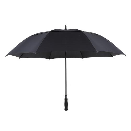 TOMSHOO 61 pulgadas de gran tamaño automático de apertura automática Paraguas al aire libre extra grande doble con dosel ventilado a prueba de viento del palillo paraguas