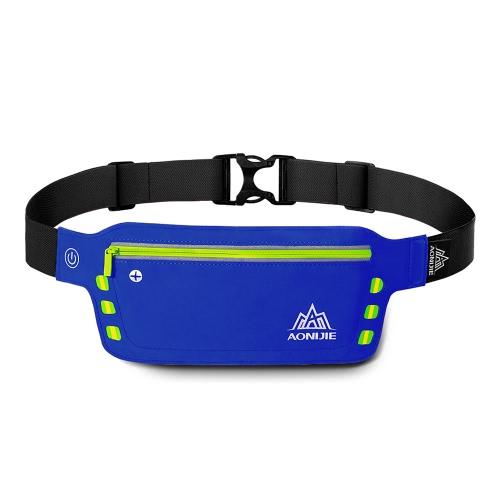 AONIJIE Reflective LED Runner cintura pack USB corrente Bloco de Fanny com auscultadores Buraco ajustável para iPhone 6 Plus